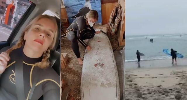 Johanna San Miguel vuelve al surf.
