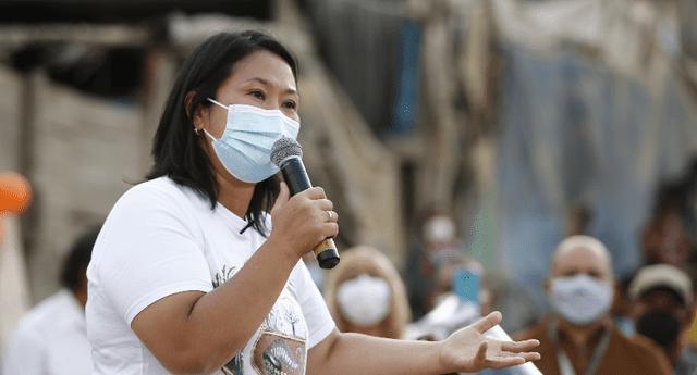 Keiko Fujimori asegura que entregará bono de S/ 10 mil a familias que perdieron a familiares por COVID-19.