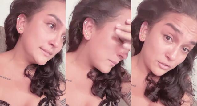 La cantante Daniela Darcourt se conmovió hasta las lágrimas al revelar que no viene pasando un buen momento en su vida.