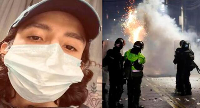Santiago representa el rostro de las violaciones de derechos humanos en Colombia que acusa a la Policía de ese país como responsable de los decesos de al menos 16 personas.