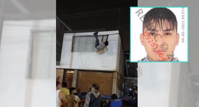 Delincuente casi fuere tras caer del techo de una vivienda en SJM.