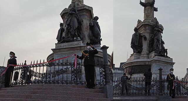 Jorge Muñoz indicó que este monumento es uno de los más altos de la capital.
