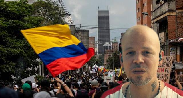 Residente asegura que denunciará ante la ONU represión policial en Colombia.