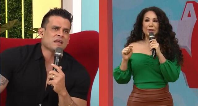 Janet Barboza aseguró que Christian Domínguez se ausentaría de América Hoy por 10 días, y presentó a La Pánfila como su reemplazo.