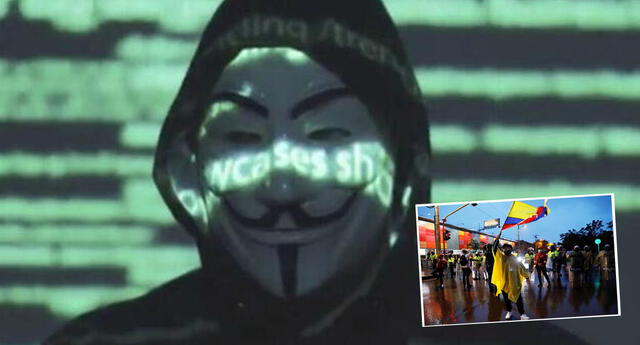 Anonymous publicó video contra el Gobierno de Colombia.