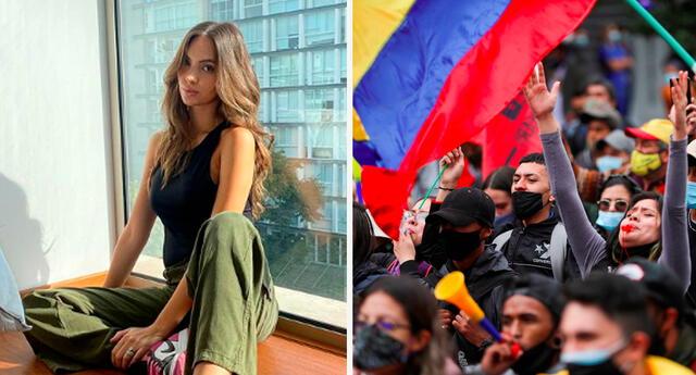 Natalie Vértiz se pronunció sobre crisis en Colombia.