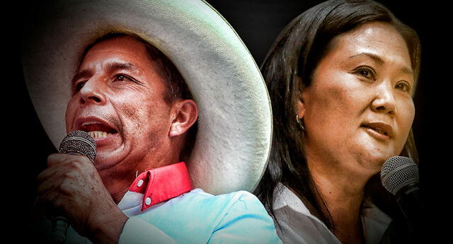 Pedro Castillo baja y Keiko Fujimori reduce la ventaja