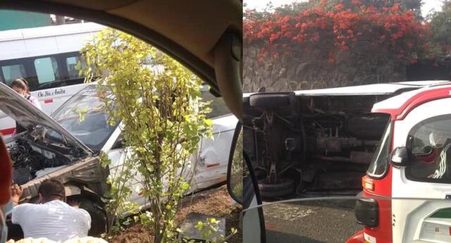 Accidente vehicular en la Carretera Central.