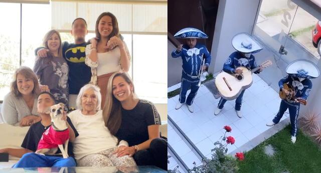 """Melissa Klug sorprende con mariachis a su mami y abuela: """"Te amo con todo mi ser"""" [VIDEO]"""