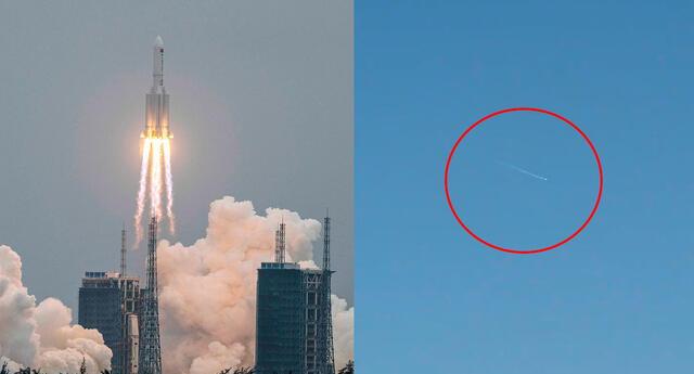 Trayectoria EN DIRECTO del cohete Long March 5B que se dirige a la Tierra.