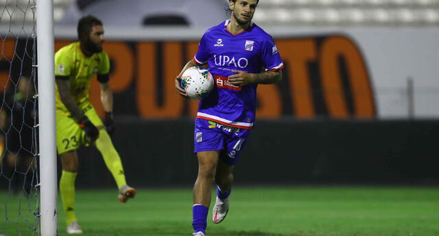 Felipe Rodríguez pone el 1-1 para Carlos A Mannucci ante Ayacucho FC.