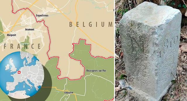 La piedra de 150 kilos se había movido más de 2 metros, lo que le dio a Bélgica más tierra.