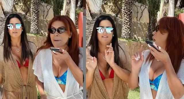 Magaly Medina y María Pía Copello protagonizan gracioso video sobre cómo responder a un ex.