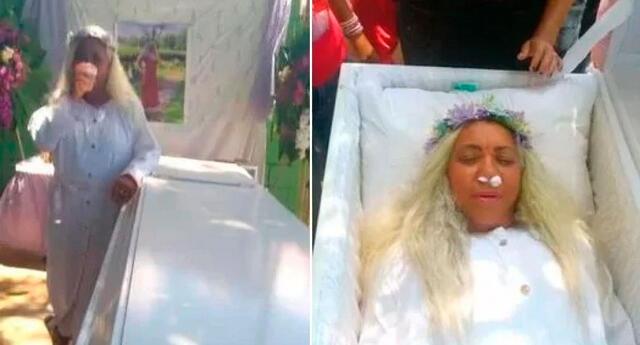 Mayra Alonzo señaló que siempre quiso cumplir su fantasía y vivir su funeral.