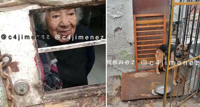 La adulta mayor fue encontrada descuidada y en condiciones de abandono.