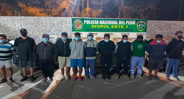 Detenidos en Huachipa y Los Olivos