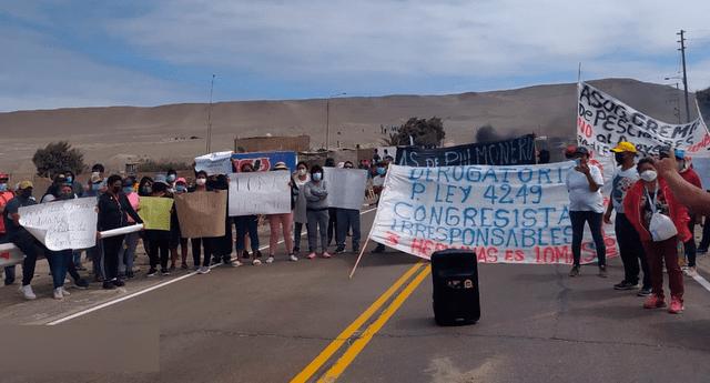 Protestas por Proyecto de ley 4249 sobre la expansión urbana e industrial de Marcona (Ica)