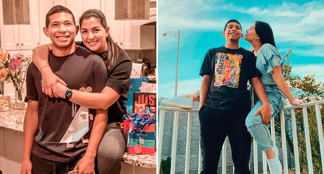 Ana Siucho celebra el cumpleaños Edison Flores.