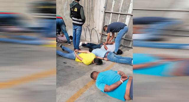 Detectives de la Dirincri detuvieron a cinco sujetos.