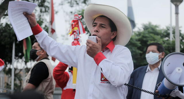 Pedro Castillo no presentó hoy su plan de gobierno