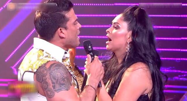 Pamela Franco tuvo como refuerzo a su pareja Cristian Domínguez.