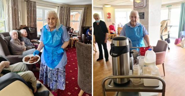 Maureen Townend es una adulta mayor de 83 años que vive en el hogar para ancianos Flower Park Care Home en Inglaterra.