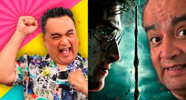 Jorge Benavides prepara divertida escena de la película Harry Potter, sketch esperada por todos sus televidentes.