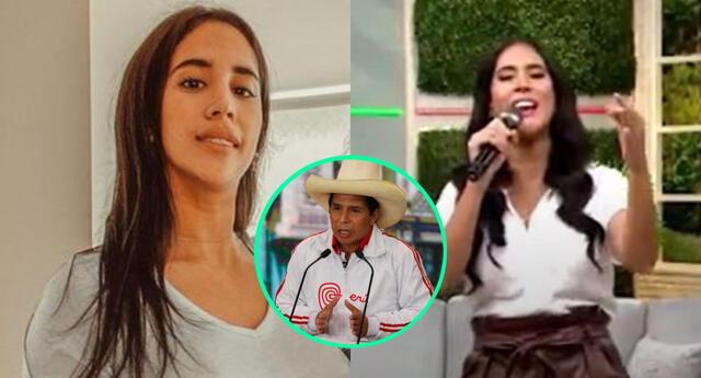 Melissa Paredes aprovechó en dar un mensaje en vivo tras el debate presidencial, y le habría mandado un mensaje a Pedro Castillo.