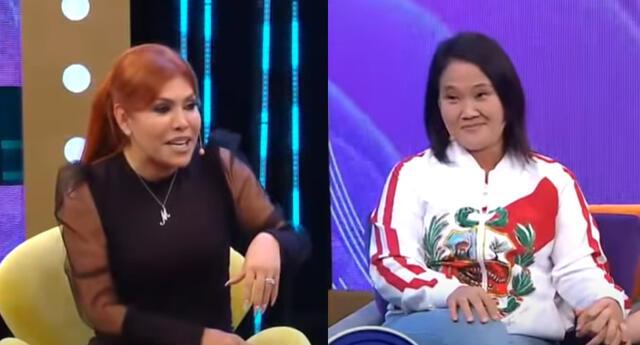 Keiko Fujimori envía advertencia a Magaly Medina durante entrevista.