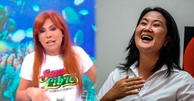 Magaly Medina fue duramente criticada en redes sociales tras apoyar a Keiko Fujimori.
