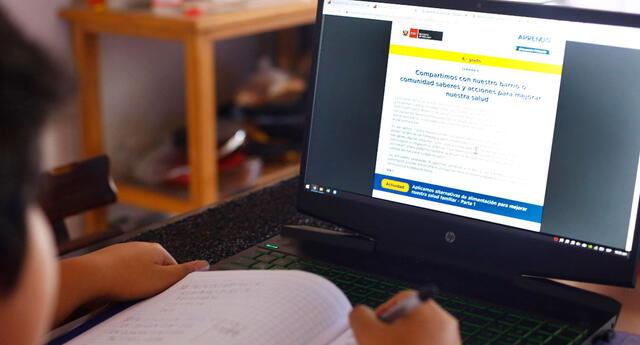 El último 5 de abril se habilitó la web de Aprendo en casa para los niños, niñas y jóvenes de inicial, primaria y secundaria. Foto: Grupo La República