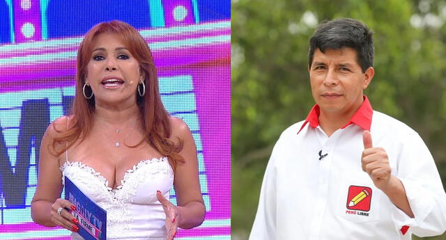 Magaly Medina asegura que invitó a Pedro Castillo a su programa.