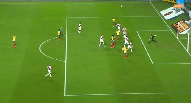 Colombia abrió el marcador en Lima a través de Yerry Mina por Eliminatorias Qatar 2022.
