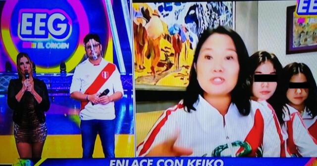 Keiko Fujimori estuvo junto a sus hijas en una entrevista para EEG.