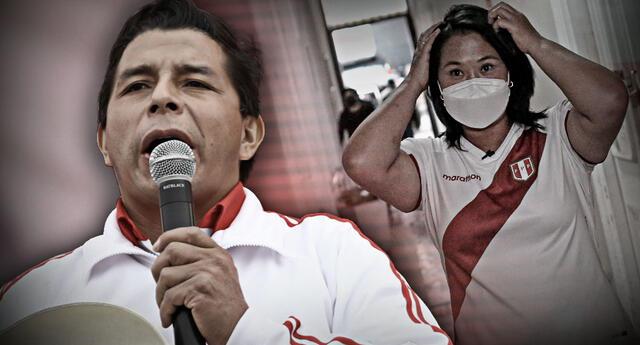 Pedro Castillo viene superando a nivel nacional a la hija de Alberto Fujimori; sin embargo, aún falta contabilizar las actas del extranjero.