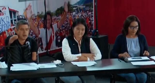 Keiko mostró videos en lo que se observa supuestas malintenciones de simpatizantes de Pedro Castillo.