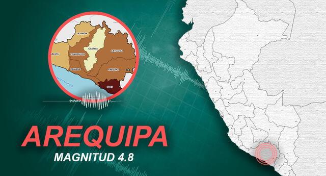 Sismo remeció Arequipa a las 09:07 de la mañana de este martes 8 de junio de 2021.