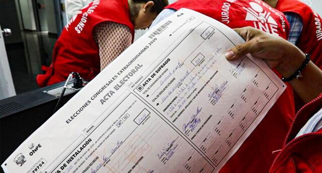 Actas electorales impugnadas fueron observadas por la ONPE, tras las elecciones.