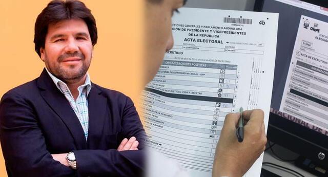 ONPE desmintió al periodista Carlos Paredes y le pidió que no difunda noticias falsas.