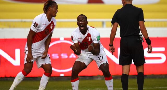 Perú superó a Ecuador por la fecha 8 de las Eliminatorias Qatar 2022.