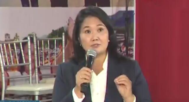 Keiko Fujimori ofrece conferencia de prensa en medio del conteo de la ONPE, donde Pedro Castillo está ganando.