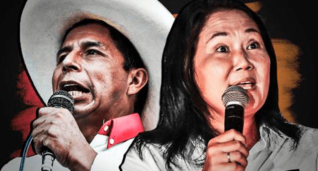 Pedro Castillo y Keiko Fujimori, candidatos presidenciales a la espera de resultados de la ONPE.
