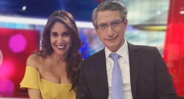 Federico Salazar venció el coronavirus tras estar internado, y Verónica Linares mostró su emoción por poder tenerlo nuevamente en el set.