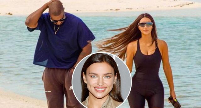 Kanye West e Irina Shayk son captados de vacaciones tras anunciar su divorcio con Kim Kardashian