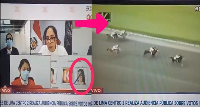 """Papelón. Canal N cortó transmisión de cédula de Keiko Fujimori marcada con """"cachos""""."""