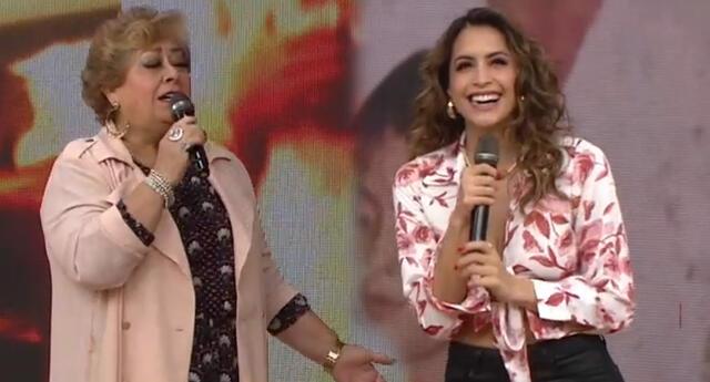 """Doña Martha tras cantarle a Milett por su cumpleaños: """"Por familia somos descendientes de artistas"""""""
