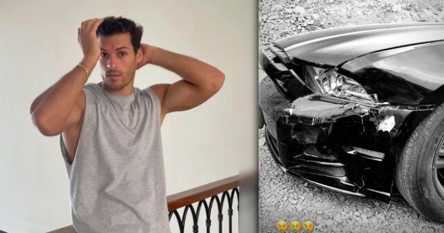Patricio Parodi soprende en sus redes al mostrar su carro destrozado, producto de un choque.
