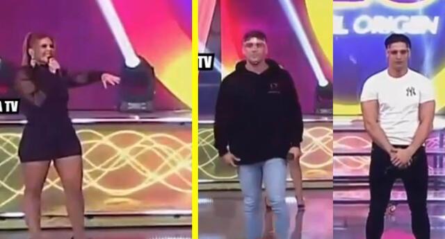 Pancho Rodríguez y Facundo González no saludan a Johanna San Miguel.