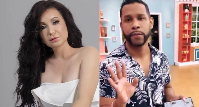 Janet Barboza le reclamó a Edson Dávila por decirle tía detrás de escenas, y él le hizo un importante pedido.