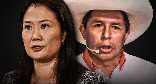 Keiko Fujimori y Pedro Castillo, candidatos presidenciales.